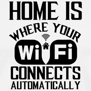 huis is wifi - Mannen Premium T-shirt