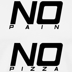No pain no pizza - Premium T-skjorte for menn