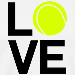 tennis_love - Premium T-skjorte for menn