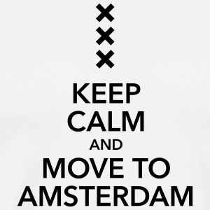 keep calm move to Amsterdam Holland Kreuz Cross - Männer Premium T-Shirt