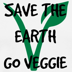 Save the earth go veggie - Men's Premium T-Shirt