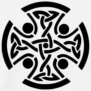 Celtic Cross - Premium T-skjorte for menn