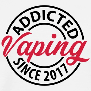 Vaping - Addicted siden 2017 - Herre premium T-shirt