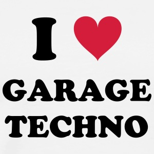 I LOVE GARAGE TECHNO - Men's Premium T-Shirt