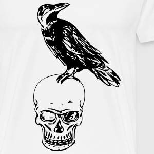 Raven Of Death - Herre premium T-shirt