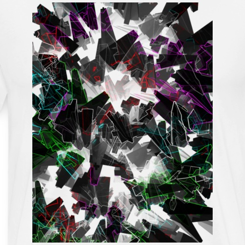 Matrix Abstract Art - Männer Premium T-Shirt