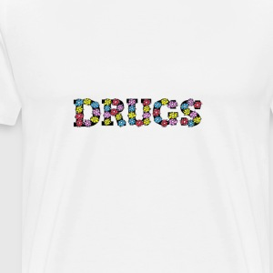drugs - flowers - Men's Premium T-Shirt