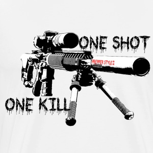 sniper ONe KILL ONe Shot - Männer Premium T-Shirt