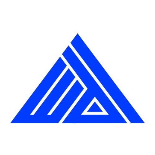 Logo Edi Blue - Mannen Premium T-shirt
