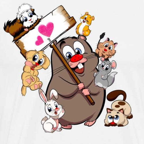 Steppi TIERHAUFEN mit Herz - Männer Premium T-Shirt
