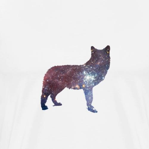 Wolf in Space - Männer Premium T-Shirt
