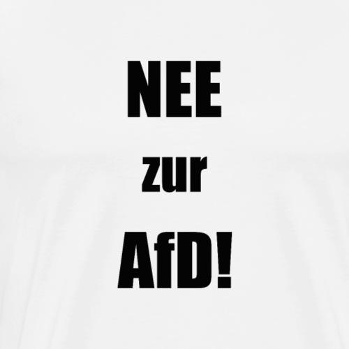 Nee zur AfD Simples Design (Schwarz) - Männer Premium T-Shirt