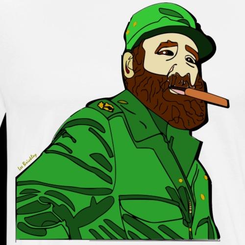 Fidel Castro revolutionary design - Men's Premium T-Shirt