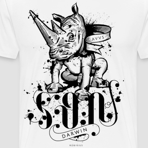 Rinoceronte - Son of Darwin - Maglietta Premium da uomo