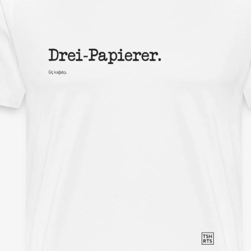 Drei-Papierer. - Männer Premium T-Shirt