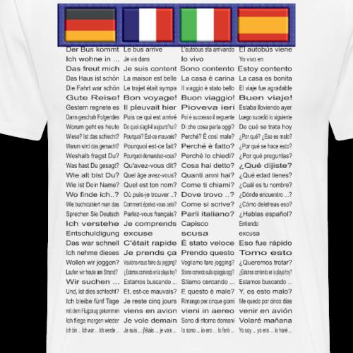 Sprachen Edition 2 - De | Fr | It | Esp - Männer Premium T-Shirt