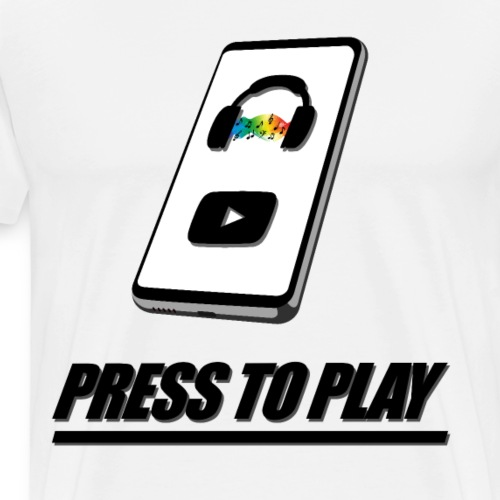 PRESS TO PLAY - Smartphone - Männer Premium T-Shirt