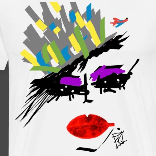 FACCE_DI_MòKIKA_KRIPTON CITY - Maglietta Premium da uomo