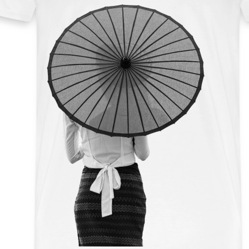 Woman with a Umbrella B/W - Männer Premium T-Shirt