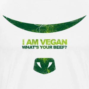 I AM VEGAN! WHAT'S YOUR BEEF?(dark green) - Männer Premium T-Shirt
