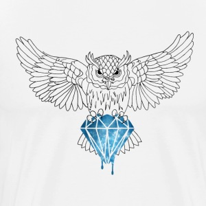 Dynamic Royal Owl V-Neck Tee - Men's Premium T-Shirt