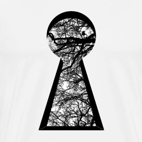 Schlüsselloch - Natur - Männer Premium T-Shirt