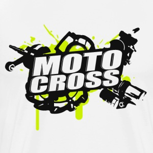 Motocross Supermoto Enduro Vol.I g / b - Premium T-skjorte for menn