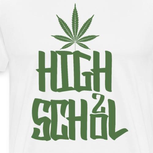Highschool Grün - Männer Premium T-Shirt