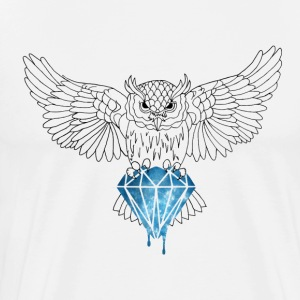 Dynamic Royal Owl Long Tee - Men's Premium T-Shirt