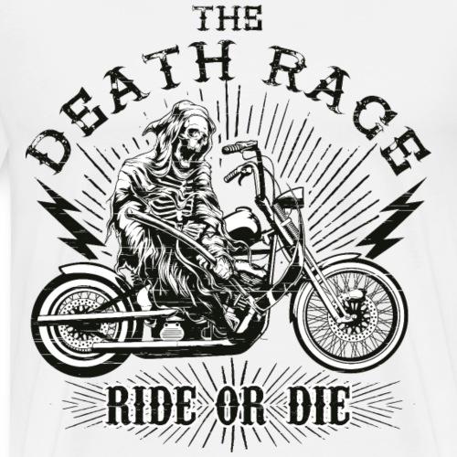DEATH RACE - Motorrad Chopper Sensenmann Geschenk - Männer Premium T-Shirt