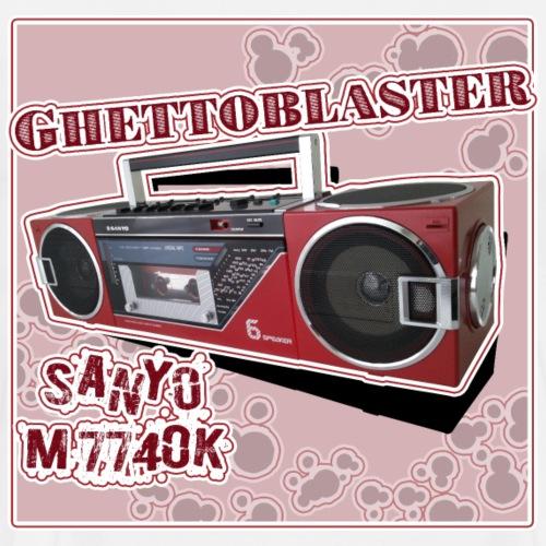 Boombox Sanyo M7740 Ghettoblaster - Männer Premium T-Shirt