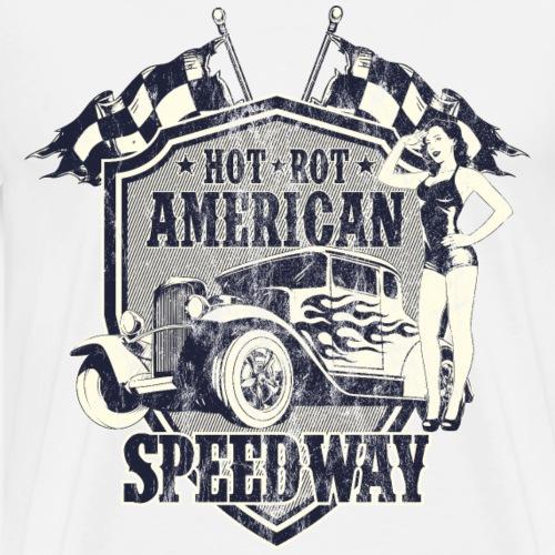 SPEEDWAY AMERICAN HOTRODS - Hot Rod Geschenk - Männer Premium T-Shirt