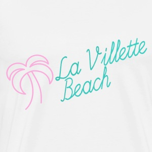 La Villette beach pink mint - Men's Premium T-Shirt