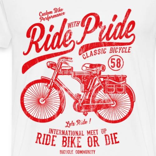 RIDE WITH PRIDE - Bicycle und Fahrrad Shirt Motiv - Männer Premium T-Shirt