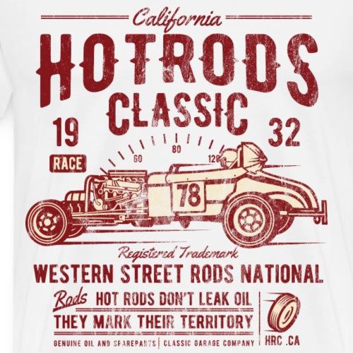 HOTRODS CLASSIC - Sportwagen Shirt Motiv - Männer Premium T-Shirt