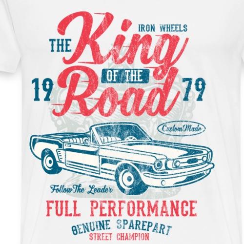 KING OF THE ROAD - Tuning und Auto Shirt Motiv - Männer Premium T-Shirt