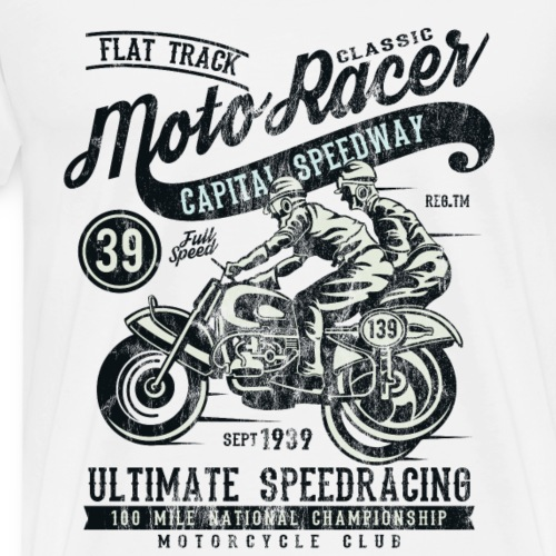 CLASSIC MOTO RACER - Speedway Biker Shirt Motiv - Männer Premium T-Shirt