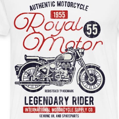 1955 ROYAL MOTOR - Retro Motorrad Shirt Motiv - Männer Premium T-Shirt