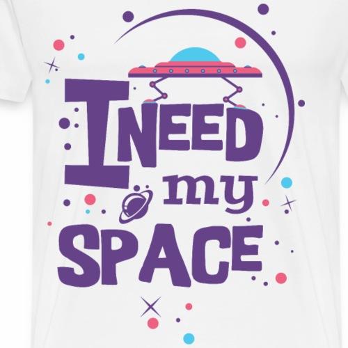 LILA ICH BRAUCHE MEIN PLATZ - UFO Sprüche Shirt - Männer Premium T-Shirt