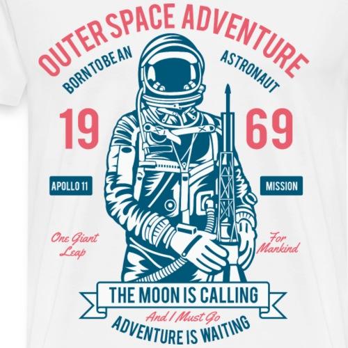 THE MOON - Kosmonauten Astronauten Shirt Motiv - Männer Premium T-Shirt