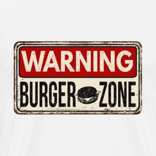 Warning Burger Zone - Männer Premium T-Shirt
