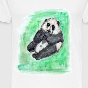 scruffy panda - Premium T-skjorte for menn