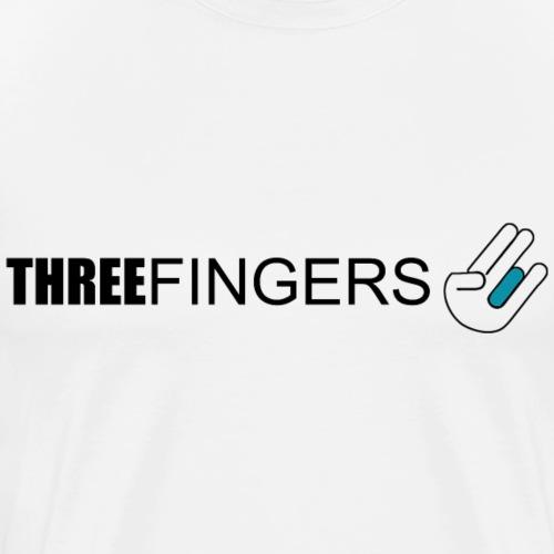 3 FINGER - Männer Premium T-Shirt