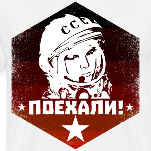 Juri Gagarin - Let's Go - Sowjet Vintage - Männer Premium T-Shirt