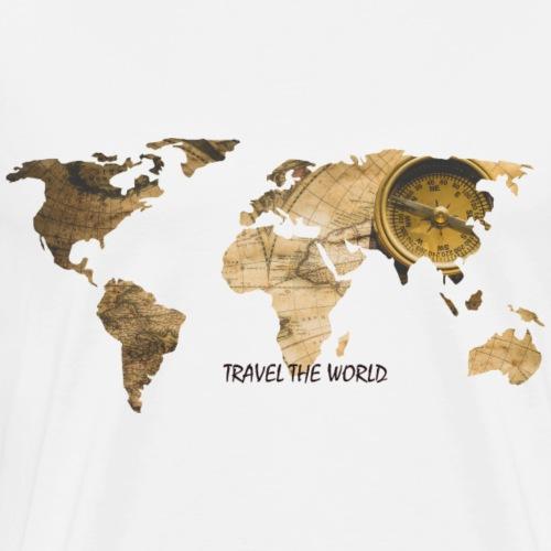 WORLD MAP - Männer Premium T-Shirt