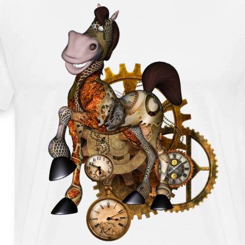 Caballo divertido steampunk - Camiseta premium hombre