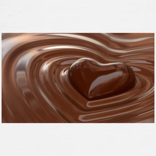 Choklad T-shirt - Premium-T-shirt herr