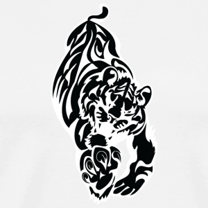 running big tiger black - Men's Premium T-Shirt