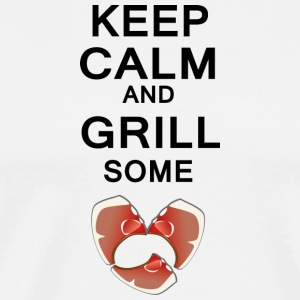 keep calm and grill some steaks anders - Männer Premium T-Shirt