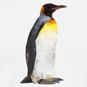 Low Poly Penguin - Mannen Premium T-shirt